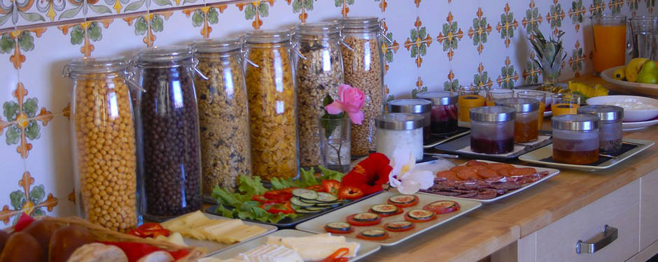 Late breakfast, buffet, surf camp food, best meals, Portugal, Algarve, Lagos