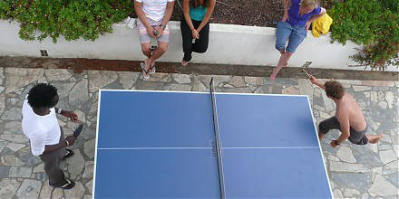 tabel tennis and other activities at our Surfcamp in Portugal