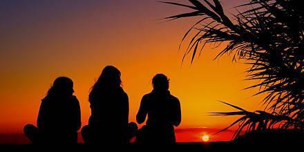Sonnenuntergang im Deluxe Surfhouse Portugal Algarve
